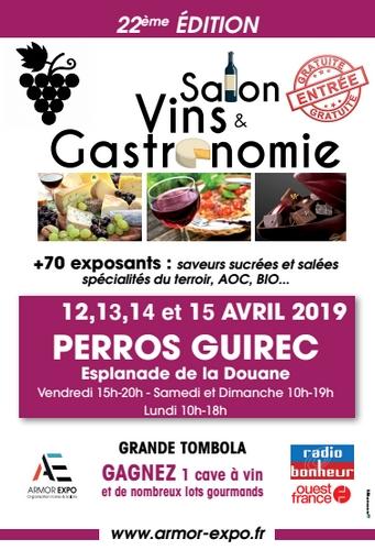22e SALON «VINS et GASTRONOMIE» du 12 au 15 Avril 2019