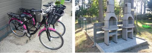 Vélos électriques  et barbecues collectifs (en supplément)